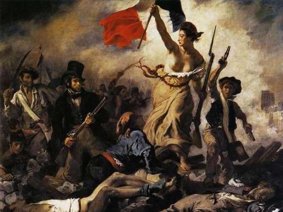 «Η ελευθερία οδηγεί τον λαό», Delacroix, 1830