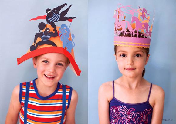 Sombreros de papel convertidos en obras de arte