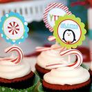 Fiesta de cumpleaños de pingüinos navideños