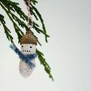 Divertidos adornos navideños con cacahuetes
