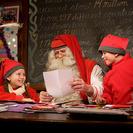 Papa Noel preparado para repartir los regalos