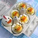 Huevos duros para niños recién salidos del corral