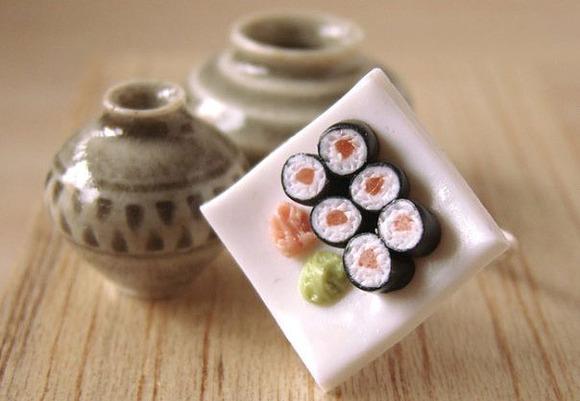 Un anillo para las amantes del sushi