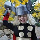 Disfraz casero de Thor, dios del trueno