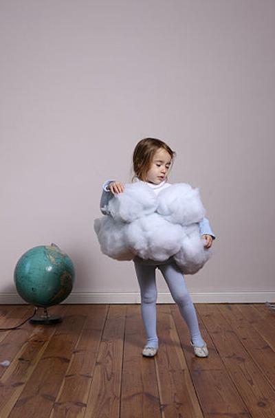 Disfraz casero de nube