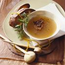 Caldo de pollo rápido  y sopa de picadillo con Thermomix