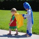 Disfraces caseros para niños de Batman y Robin