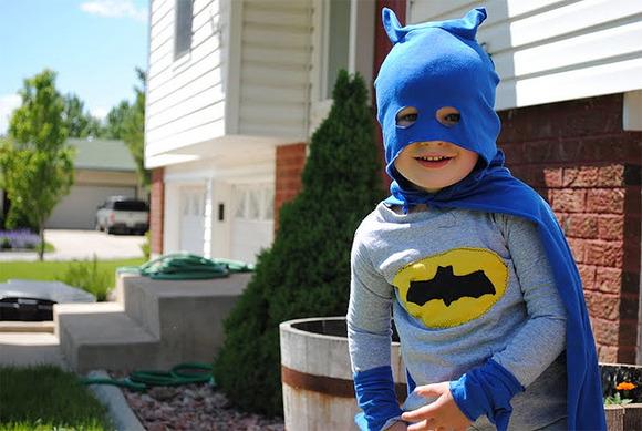 Disfraz casero de Batman para niños