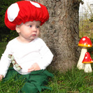 Disfraz casero de seta para bebés