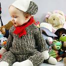 Disfraz casero de mono de trapo para bebés