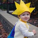 Disfraz casero para bebés de Arcoiris