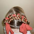 Peinados para niñas  Recogido de trenzas
