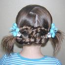 Peinados de Primera Comunión para niñas - Recogido de trenzas