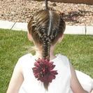 Peinados de Primera Comunión para niñas - Trenzas de raíz