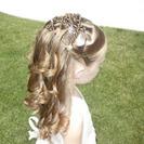 Peinados para niñas - Semi recogido con bucles