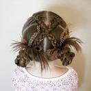 Peinados para niña en la Primera Comunión - Trenzas cruzadas