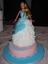 Tarta de Barbie