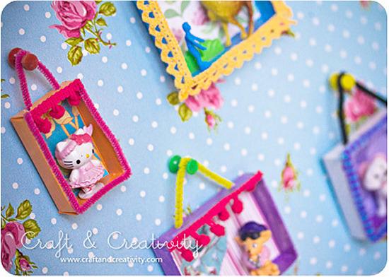 Manualidades de reciclaje. Originales cuadros para decorar las habitaciones infantiles