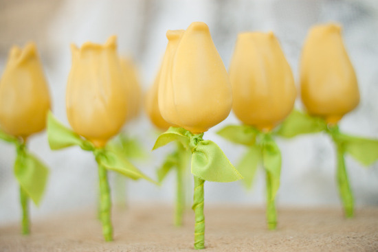 Piruletas de flores