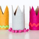 Coronas de fieltro y cartón. ¡Rey por un día!