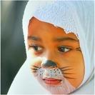 Pintar la cara de gatito para niños