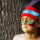 Maquillaje de indio para niños