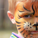 Pintacaras de tigre para niños