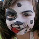 Maquillaje de perro dálmata