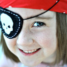 Parche de fieltro para disfraz de pirata