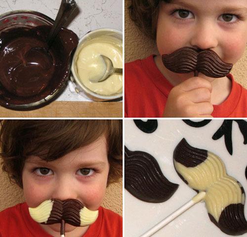 Originales y divertidas piruletas de chocolate para niños