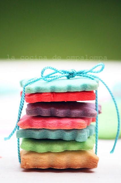 Receta de galletas de colores