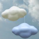 Lámparas para dormitorios infantiles. Nubes
