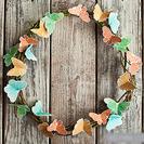 Corona de mariposas para el verano