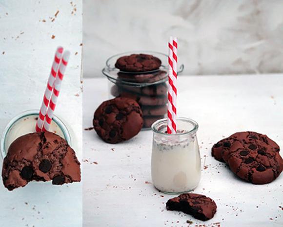 Galletas hechas con brownies