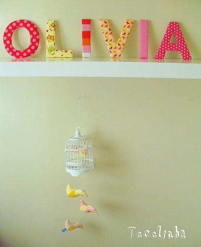 Letras De Decoracion Para Bebes ~ Decorar con letras dormitorios infantiles  Muebles y decoraci?n