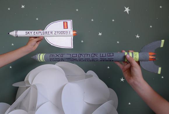Cohetes de cartón