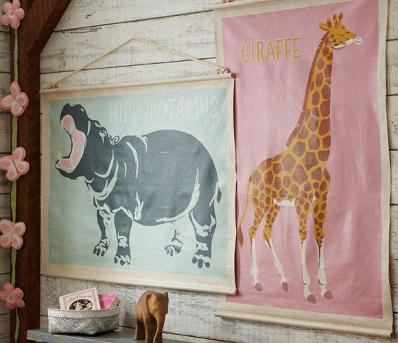 Láminas de decoración para dormitorios infantiles
