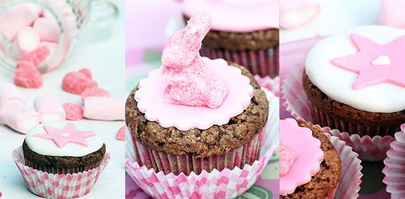 Cupcakes caseros decorados con fondant