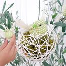 Nidos de pajaritos. Manualidades fáciles con globos y lana