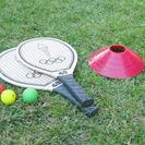 Gymkhana con raquetas para niños