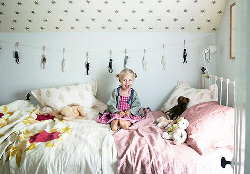 Ideas para empapelar el techo de un dormitorio infantil