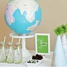 Fiesta de cumpleaños inspirada en la geografía y la tierra
