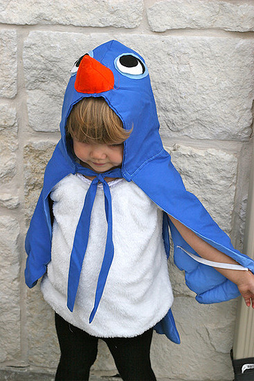 Disfraz casero de pájaro de Blancanieves