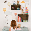 Ideas de estanterías para dormitorios infantiles