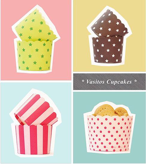 Vasitos de papel para cupcakes