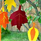 Guirnalda de fieltro para hacer con niños en otoño