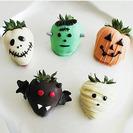 Bocaditos de fruta bañados en chocolate para Halloween