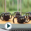 Receta de cake pops de araña para Halloween