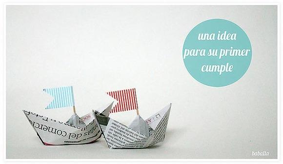 Ideas de cumpleaños para niños de 1 año. Fiesta de barcos