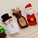 Marionetas para dedos con motivos navideños